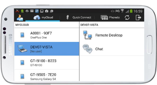 4. Using the Guest app It is assumed that you have at least one WiseMo Host module running on a PC or device, so you are prepared to successfully initiate a remote desktop control session.