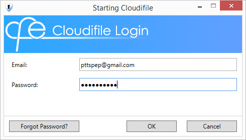 6. Validate the registered Cloudifile account by clicking the link in the received confirmation email. 7. Start the Cloudifile session. 8.
