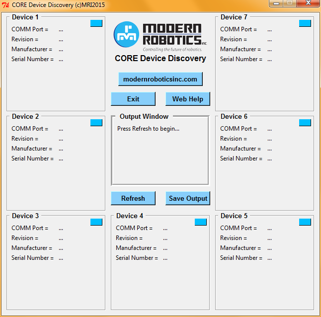Core Device Discovery Application Guide The Core Device Discovery utility allows you to retrieve module information and serial numbers, test connectivity and most functions of each module from your