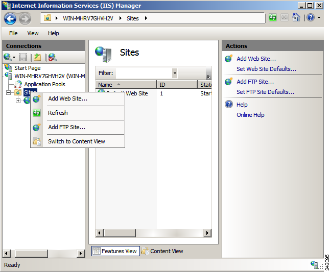 How the Cisco VXC Manager Installs and Configures FTP Appendix C Step 5 Step 6 After confirming, click Install.