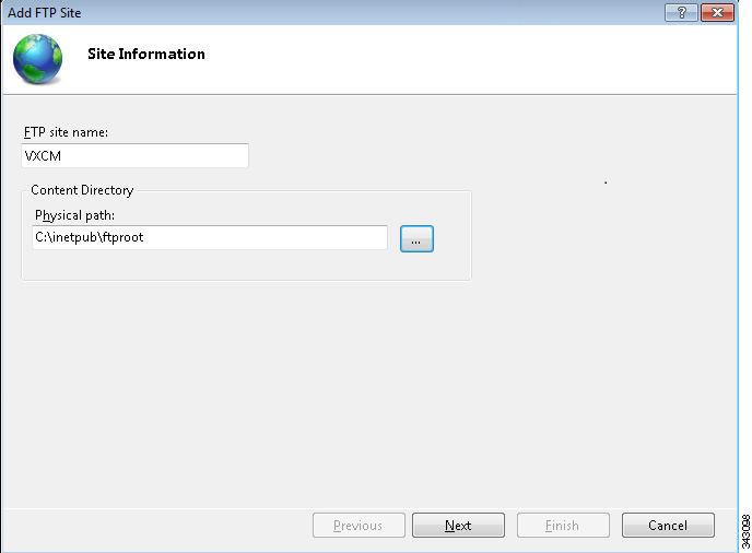 Appendix C How the Cisco VXC Manager Installs and Configures FTP Step 4 Keep the default value