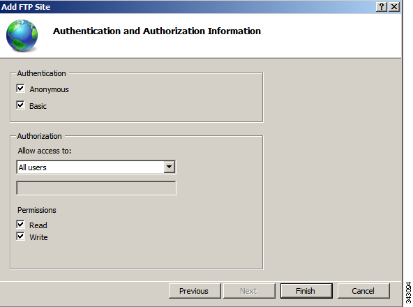 Step 5 Step 6 Check the Start FTP site automatically check box, change the SSL option to No