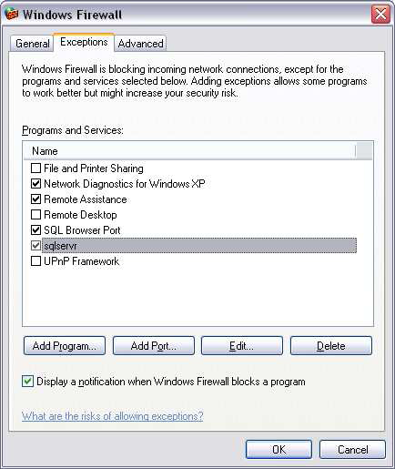 Step 7 Click OK twice to close the Add a Program and Windows Firewall window.