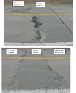 RANDOM/GRID BLOCK CRACKING EXTREME SEVERITY Transverse Cracking- Extreme Severity Slab Cracking Class II Regular Joint- High