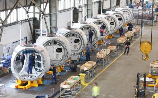 turbine production Assembly time cut by 25 % as a result of changes in process, improved tooling and changes in the assembly