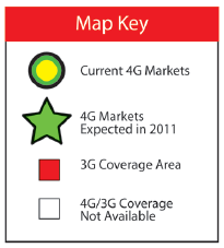 First large-scale 4G LTE deployment in the world 2011 4G LTE deployed in 190 total markets by year end,
