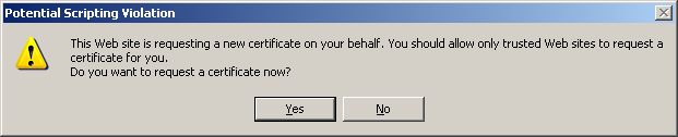 8. Select the following options on the Advanced Certificate Request screen: a. In the Certificate Template drop-down select the template type i. CoPA Authentication Session-Auto ii.