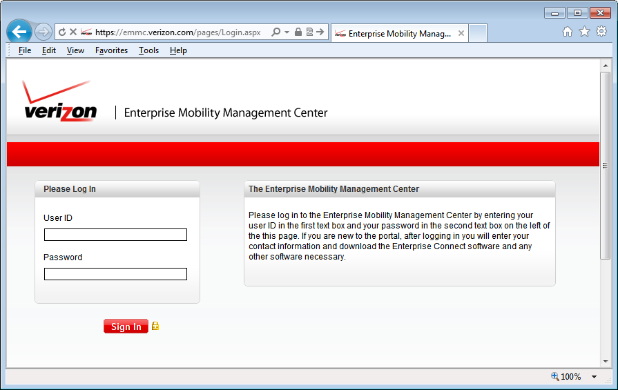 Manually Install Verizon Enterprise Connect from Enterprise Mobility Management Center (EMMC) Website EMMC is the public website used for accessing your Enterprise Connect software and account