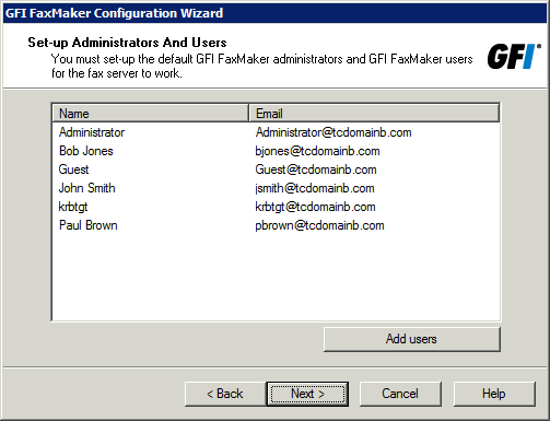 Fax device Fax modems Fax services Description Select to automatically detect fax modem drivers and click Next.