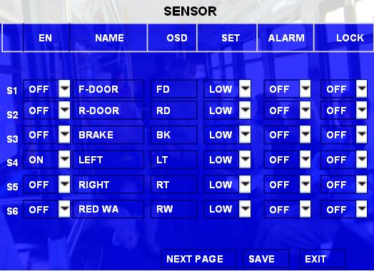 9.2 Specifications for the SENSOR BOX (sensor inputs and outputs) SENSORs 1-6 are the inputs for I/O sensors, SENSOR OUT is for sensor output connection SPEED- and SPEND+ are for speed sensor, which