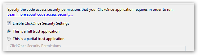 You can also view/change the installed ClickOnce application under Add/Remove programs in the control panel.