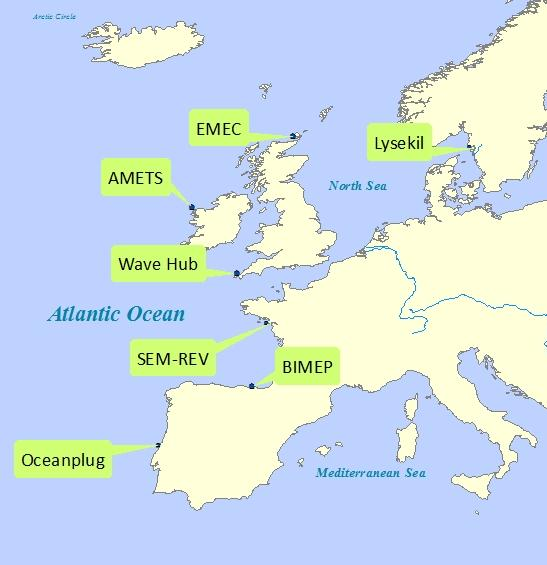 WAVE AND TIDAL ENERGY TEST SITES Several test sites have been developed for wave and tidal energy testing Full name Atlantic Marine Energy Test Sites Biscay