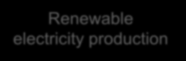 Calculation of the renewable share Renewable electricity production