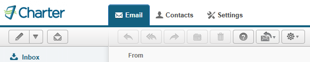 new tab. From the drop down you may select to compose either a New Email or New Contact.