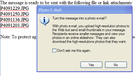 PHOTO EMAILS IN WINDOWS LIVE MAIL Sending Compressed Pictures in Windows Live Mail 1. Make sure WLM is your default email program. a. Open WLM b. Tool/Options c. Make Default d. Apply then OK 2.