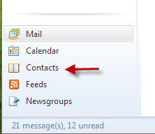 The Add a Contact window will open and automatically have the sender's email address.
