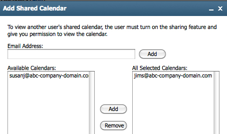 Shared Calendars Sharing a Personal Calendar If your account is set up to use shared calendaring, you may be able to control who can and cannot view your calendar.