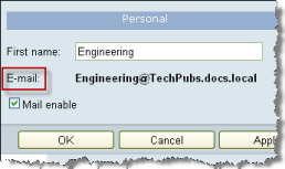 Chapter 9: Managing Public Folders Option (GB) Description Apply: Issue warning at (GB) You will receive a warning message when the folder reaches the limit you specify in this text box.