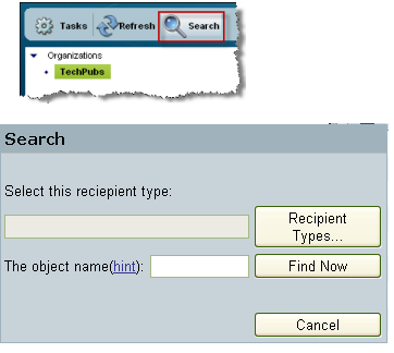 Chapter 11: Searching for Recipients Click Search to find users, contacts, or distribution lists. To find a recipient: 1 Click Search.