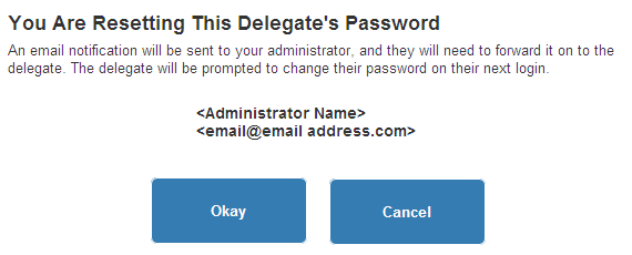 Here, you can select a new Access Level for your Delegate, from the dropdown box and click on the Save button.