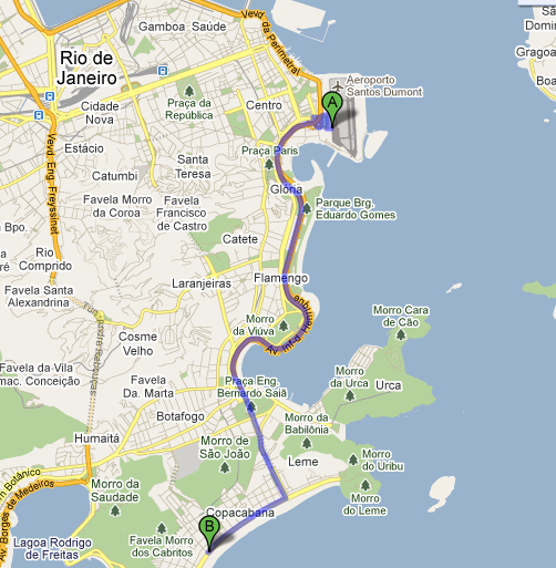 Driving Directions from Santos Dumont Airport (SDU) to JW Marriott 5.0 miles -Go down Avenida Atlantica, than take Avenida Princesa Isabel. Go straight to Aterro do Flamengo.