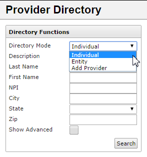 PROVIDER DIRECTORY The Provider Directory allows you to search for providers within your own HIE and, in some cases, other exchanges.