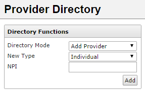 Note: Any manual additions made to provider information will appear with a data source of Local Source, and will be visible to any user that has access to the Provider Directory.