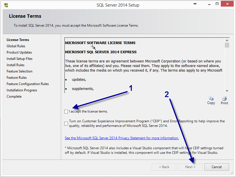 Click on the link New SQL Server stand-alone or add feature to an existing installation.