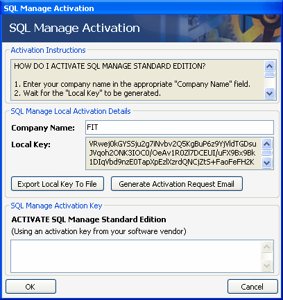 "The ""SQL Manage Activatin"" dialg bx appears Prceed t enter yur cmpany name in the apprpriate ""Cmpany Name"" field."