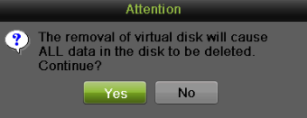 1. Enter the Virtual Disk interface by going to Menu > System Configuration > RAID > Virtual Disk Figure 137 Virtual Disk Interface 2. Click to repair the virtual disk. 3.