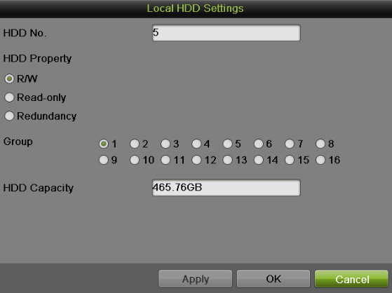 Figure 155 Group Mode Settings Menu 4. Click the Apply button to pop up an attention box as shown below: Figure 156 Attention for reboot 5. Click Yes to reboot and make the settings effective.