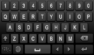 The buttons on the soft keyboard represents: Figure 14 Soft Keyboard Switch to Uppercase: Switch to uppercase input.