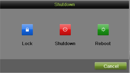 Figure 16 Shutdown Menu 2. Select the Shutdown button. 3. Click the Yes button. Note: Do not press the POWER button again when the system is shutting down.