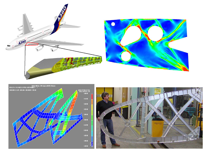 Examples for the positive semidefinite cone Free material optimization: wing design of the Airbus A380 Further reading M. Kočvara, M. Stingl and J. Zowe.