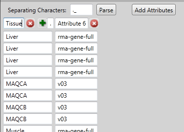 Gene Level Differential Expression Analysis 50 Click to enter a unique separating character for your parsed filename. The default separating character is a period.