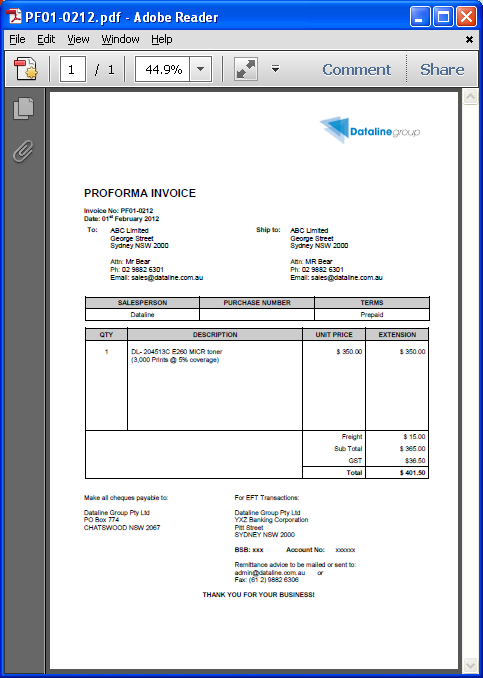 Non PO Invoice Details Used To: View Invoice