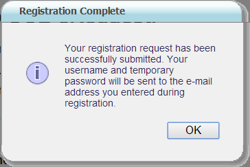 2. Complete the Registration form. Required fields are marked with an * [asterisk]. 3.