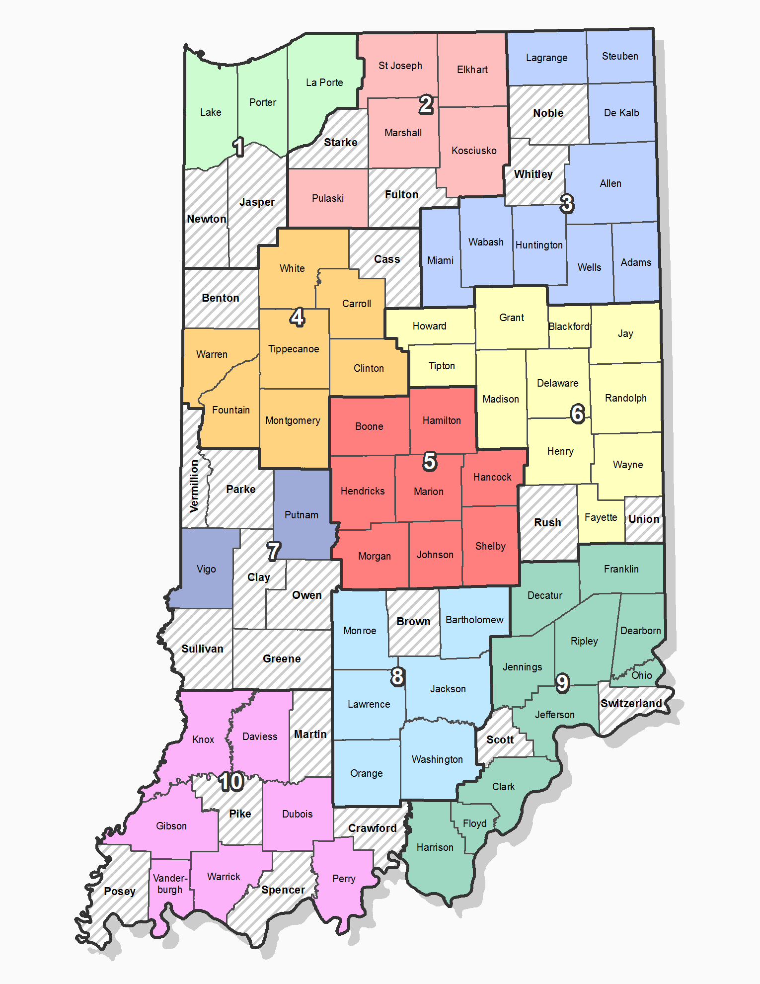 Map of Responding Indiana