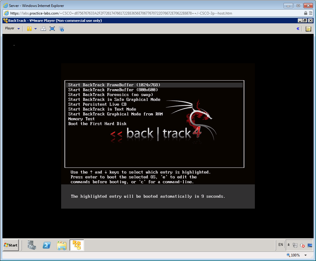When Backtrack has booted, type the following at