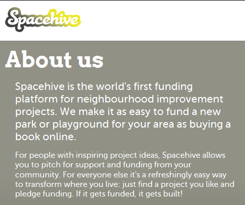 Civic empowerment SpaceHive a funding