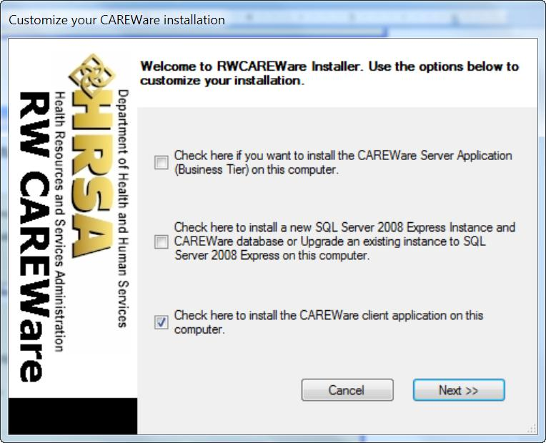 CAREWare Quick Start Downloading and Installing Careware Page 20 3.