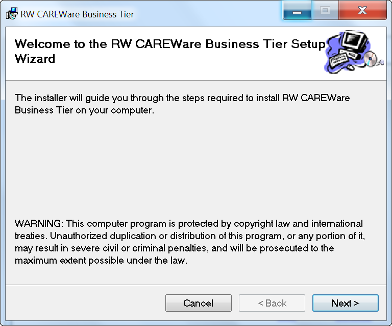 CAREWare Quick Start Downloading and Installing Careware Page 9 3.