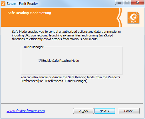 how to set foxit as default pdf reader