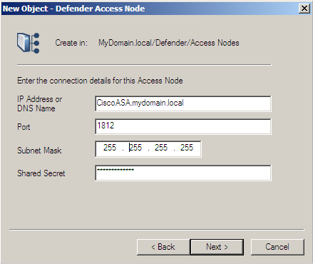 Defender Remote Access Guide 8. Click Next to continue.