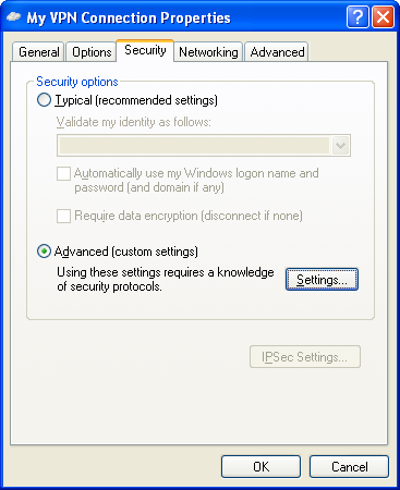 Defender Remote Access Guide Configuring the VPN Client This section describes how to configure the Microsoft VPN Client.