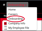 1. Log into SuccessFactors following step #1 of the instructions under the Initiating Onboarding for Recruited Hires section above. 2. The default page upon login is the Home screen.