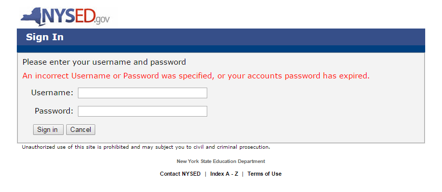 "At the Sign In screen, enter your User Name and Password and click the ""Sign in"""