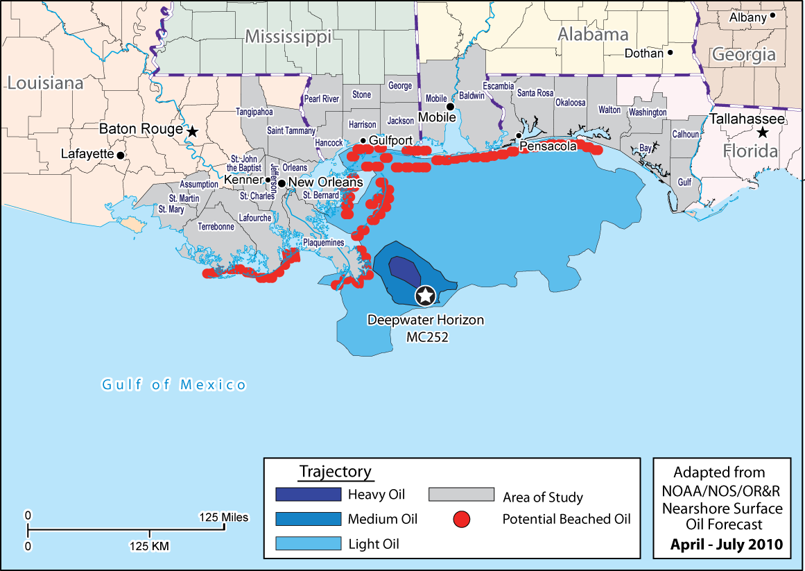 Gulf Coast Jobs and the Deepwater Horizon Oil Spill On April 20 2010, the Deepwater Horizon explosion caused 11 deaths and the largest oil-well spill in U.S. history.