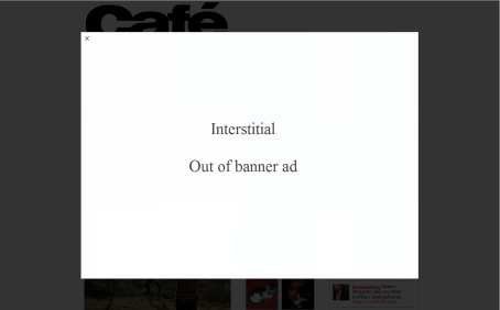 Example of an interstitial banner, see example below.
