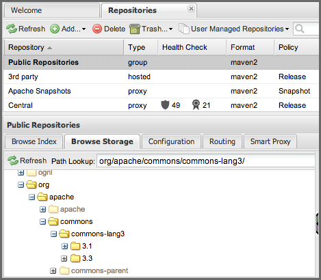 Repository Management with Nexus 80 / 405 a repository group. There is no difference to the user experience of browsing a repository group vs. browsing a repository. Figure 5.